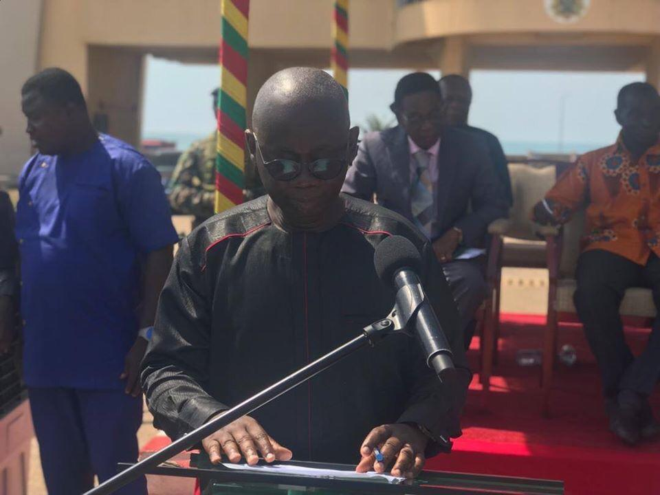 GES, others, receive pickups and motorbikes from government