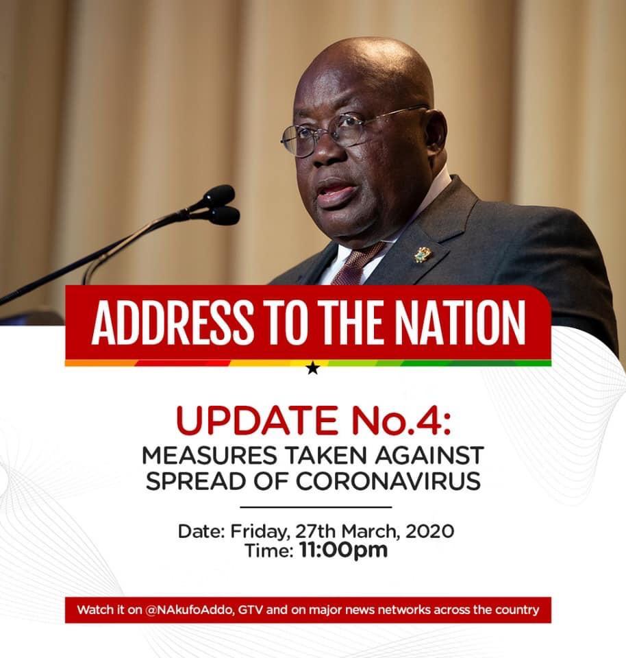 Playback: Akufo-Addo addresses the nation as coronavirus cases soar