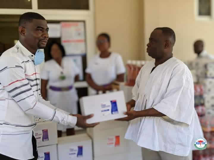 Capemay Properties supports 37 Military Hospital and Korle Bu with items to fight coronavirus