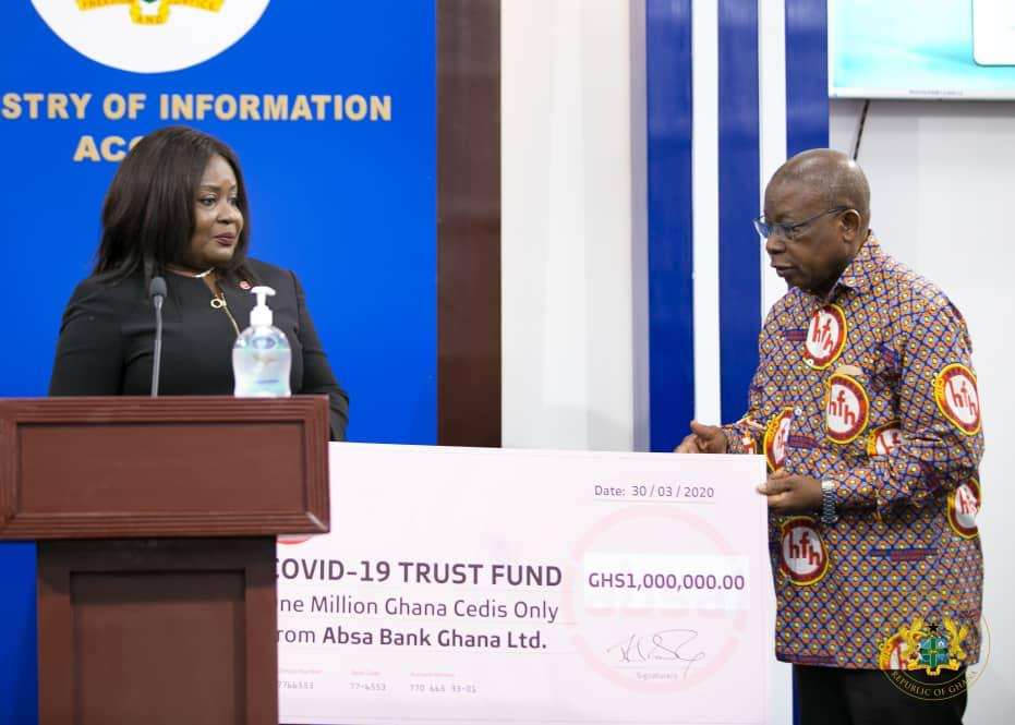 Absa Bank supports Covid-19 Fund