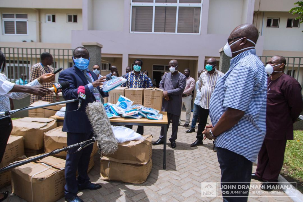 Mahama supports Korle Bu with Personal Protective Equipment