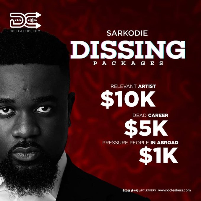Sarkodie's dissing packages