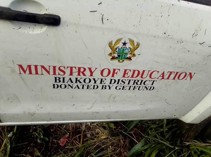 Biakoye Education Directorate pickup involved in an accident