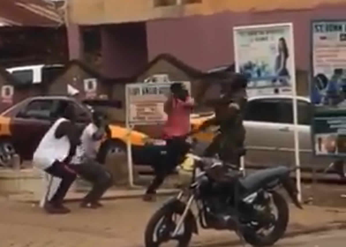 Video of civilian hitting a military man happened in 2019 - Ghana Armed Forces