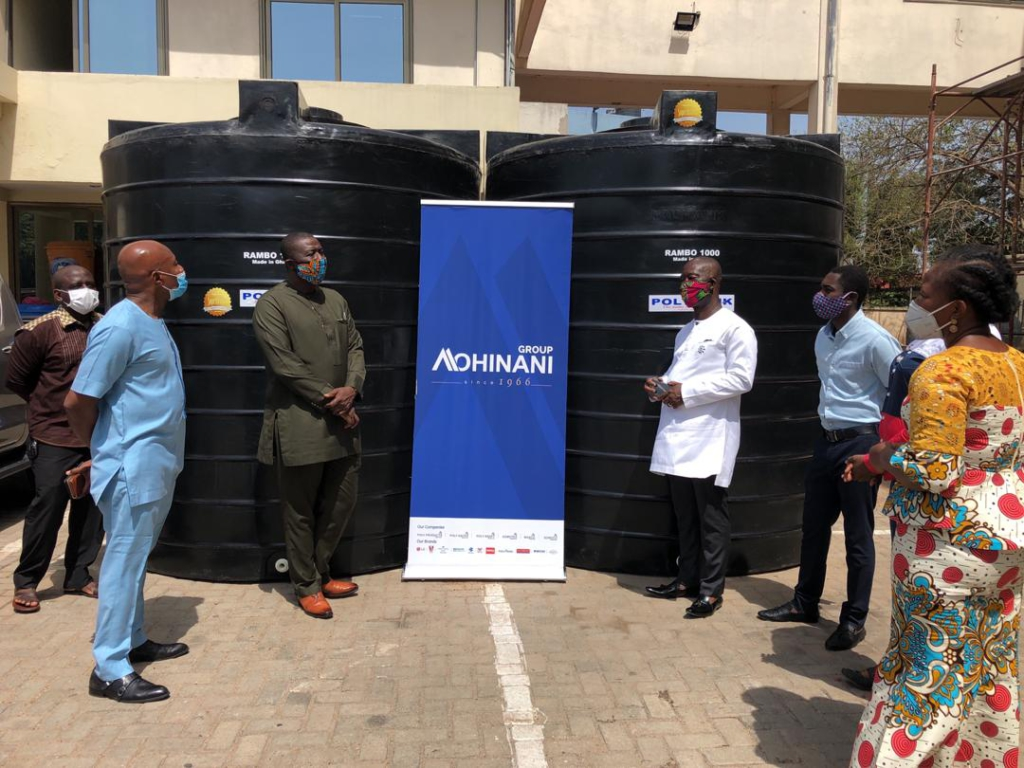 PolyTank donates 10 pieces of 10,000-litre water tanks to Covid-19 Fund