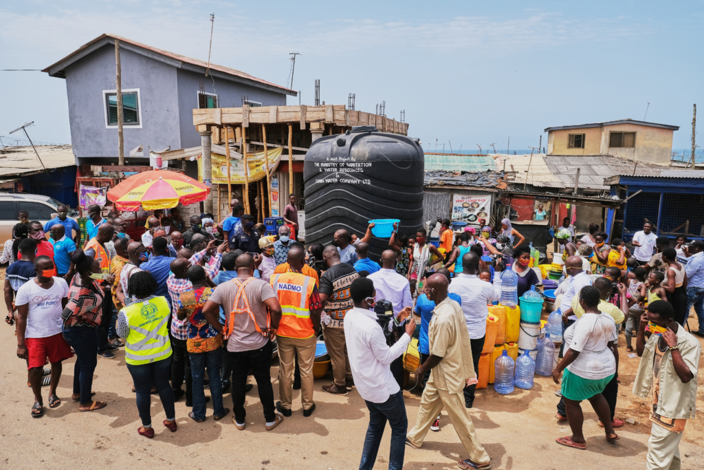 Free water distribution at Chorkor and Mamprobi in pictures