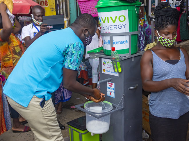 Vivo Energy and retailers install water storage facilities at lorry parks and markets