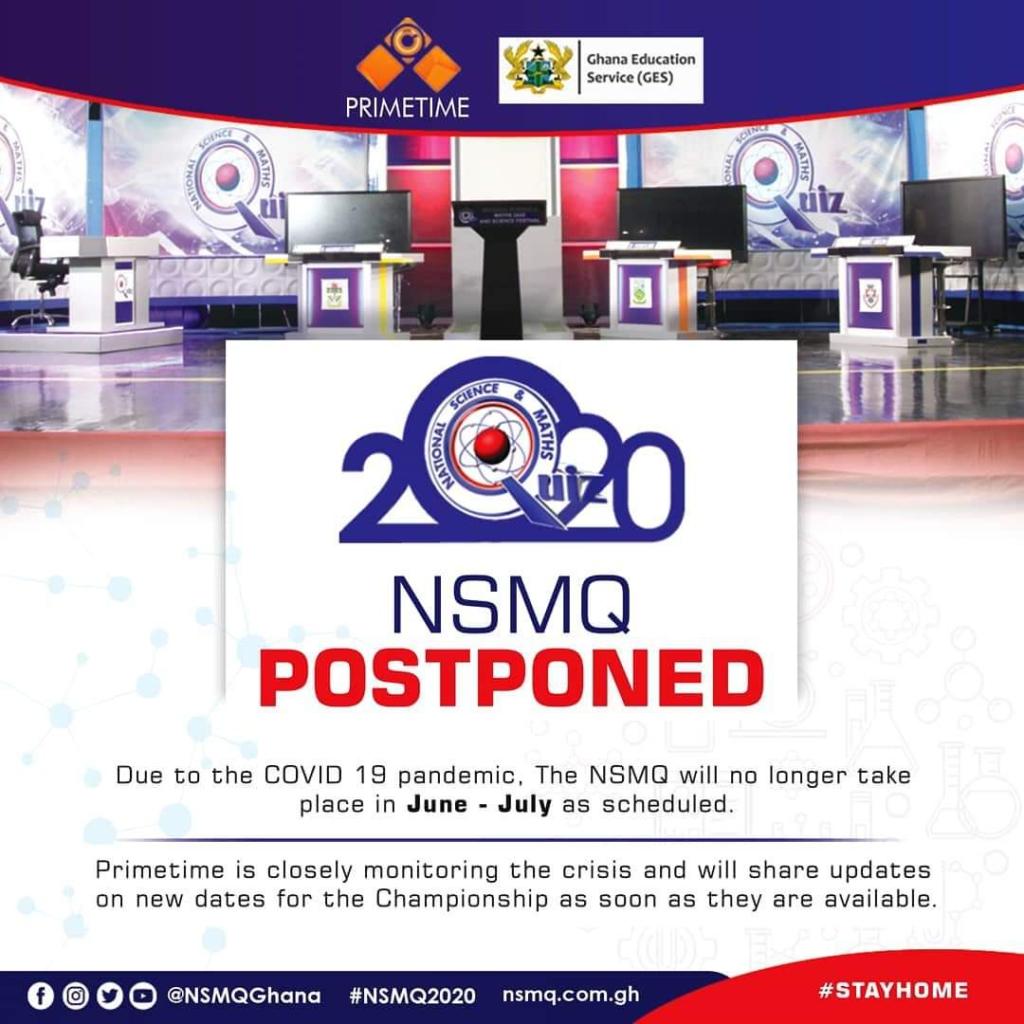 NSMQ 2020 postponed till further notice