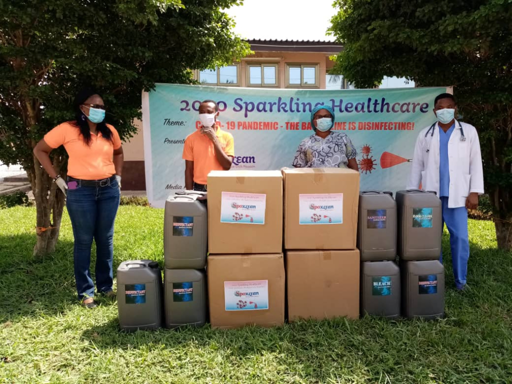 Spaklean Company supports Maamobi Polyclinic to fight Covid -19