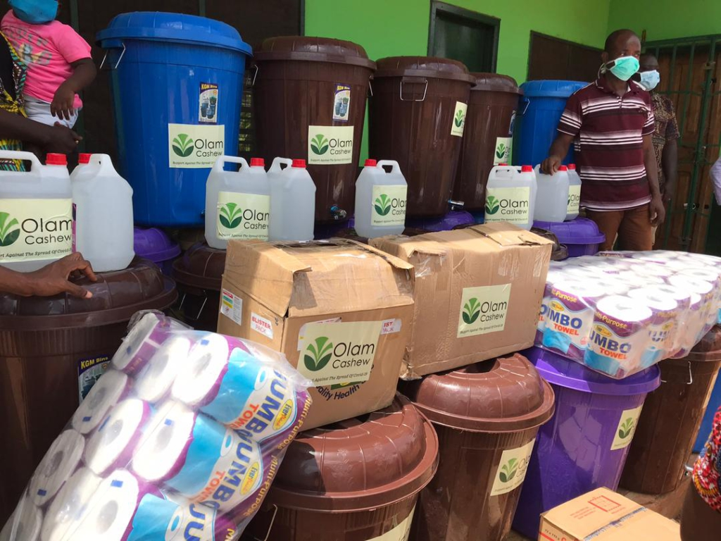 OLAM Ghana Cashew donates PPEs to Agric Ministry in Bono East
