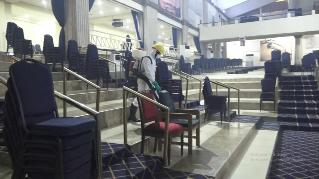 Regional Maritime University and Action Chapel benefit from May Day disinfection exercise by Zoomliom