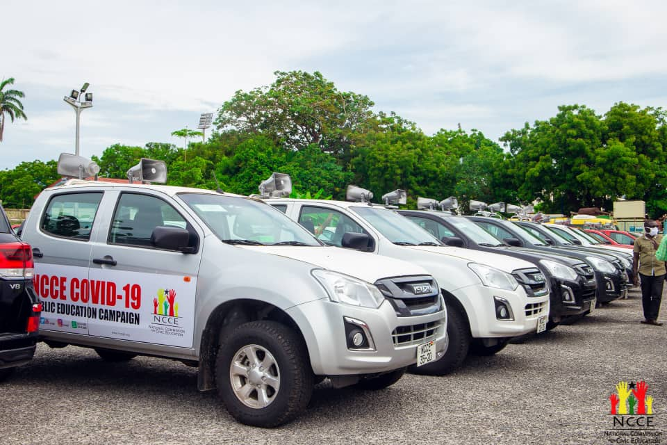 JUST IN: NCCE ordered to return vehicles donated by government for Covid-19 sensitisation 2