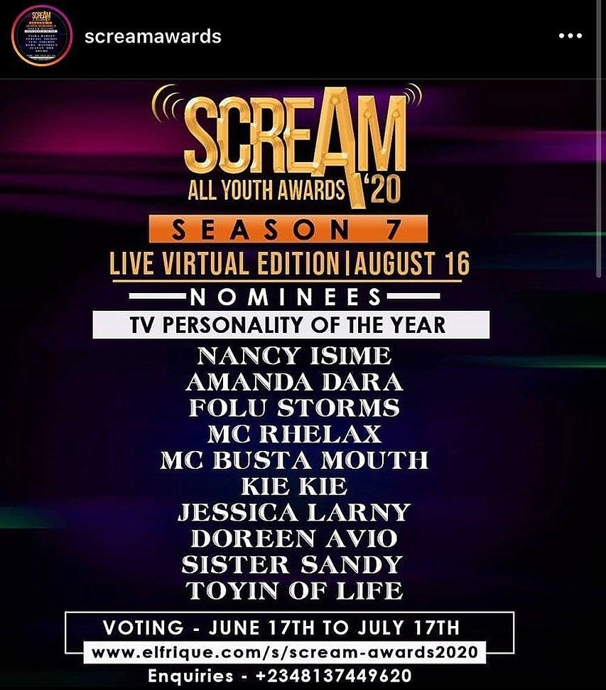 Scream Awards: Radio and TV Personality Doreen Avio, other Multimedia journalists nominated