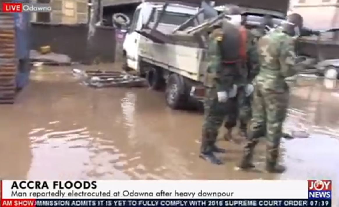 One dead as military, NADMO move to rescue Accra flood victims ...