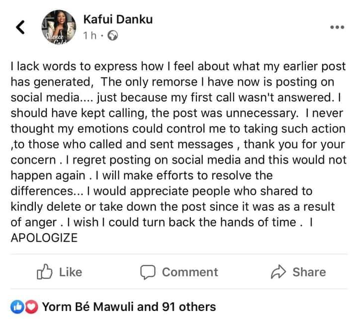 Kafui Danku and Leila Djansi fued