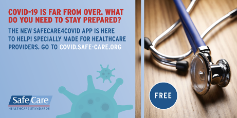 A free mobile app for healthcare providers that offers practical support in handling Covid-19 crisis