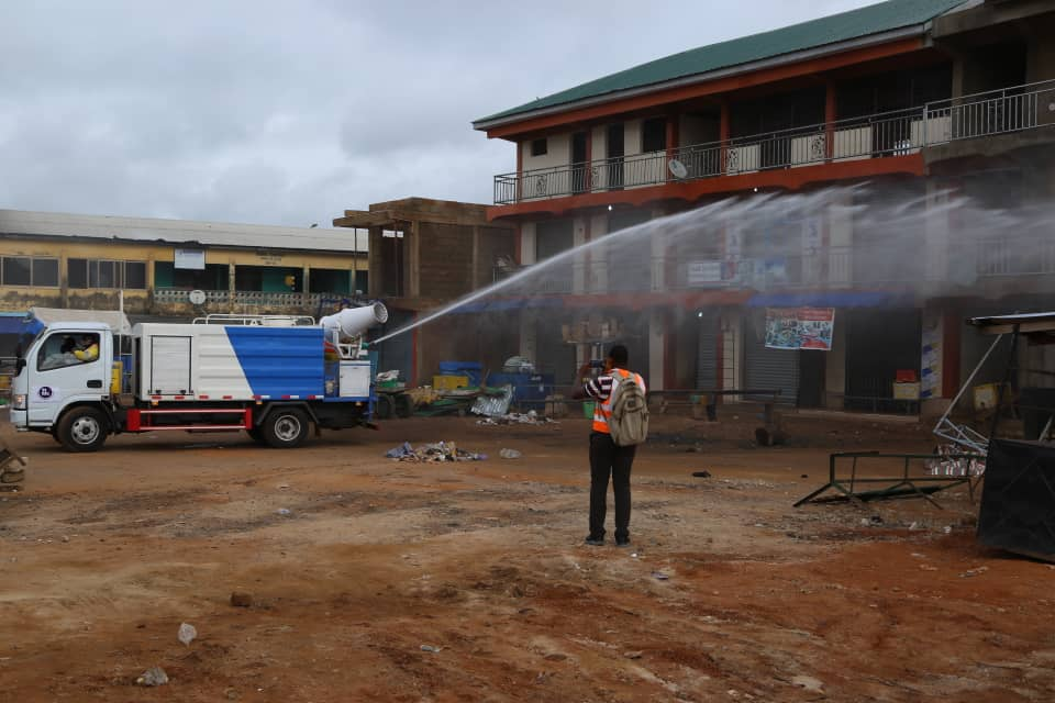 109 markets in the Upper West Region disinfected by government