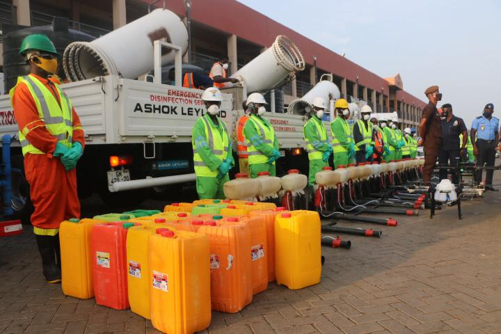 Covid-19: Volta Region markets, lorry parks, others disinfected