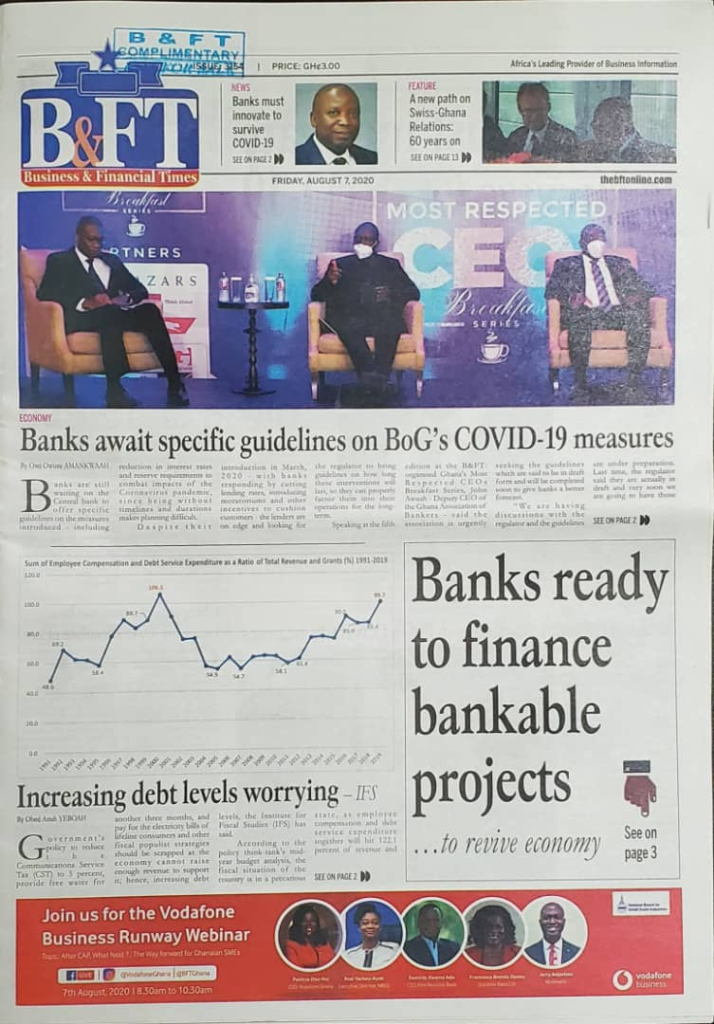 Today's frontpages: Friday, August 7, 2020