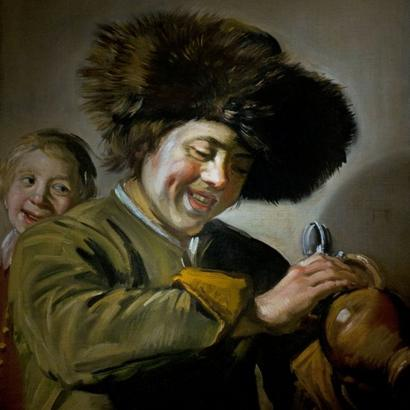 The painting, featuring two laughing boys with a mug of beer, was previously stolen in 2011 and 1988 [Creative Commons]