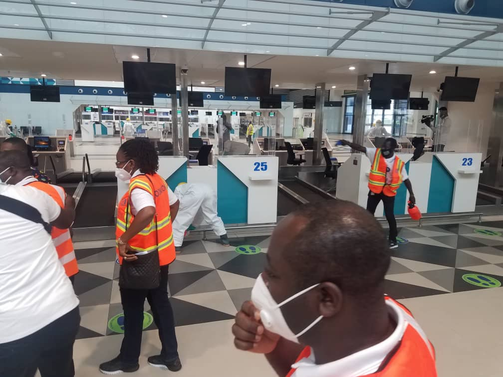 Photos of disinfection exercise at Kotoka International Airport ahead of  Sept 1 re-opening - MyJoyOnline.com