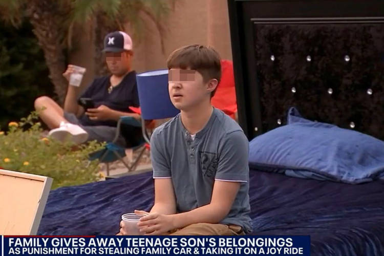 14-year-old forced to give away his belongings after taking family car on joyride