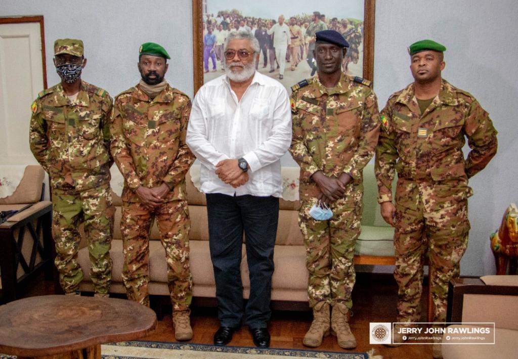 Rawlings receives Malian military leaders – MyJoyOnline.com