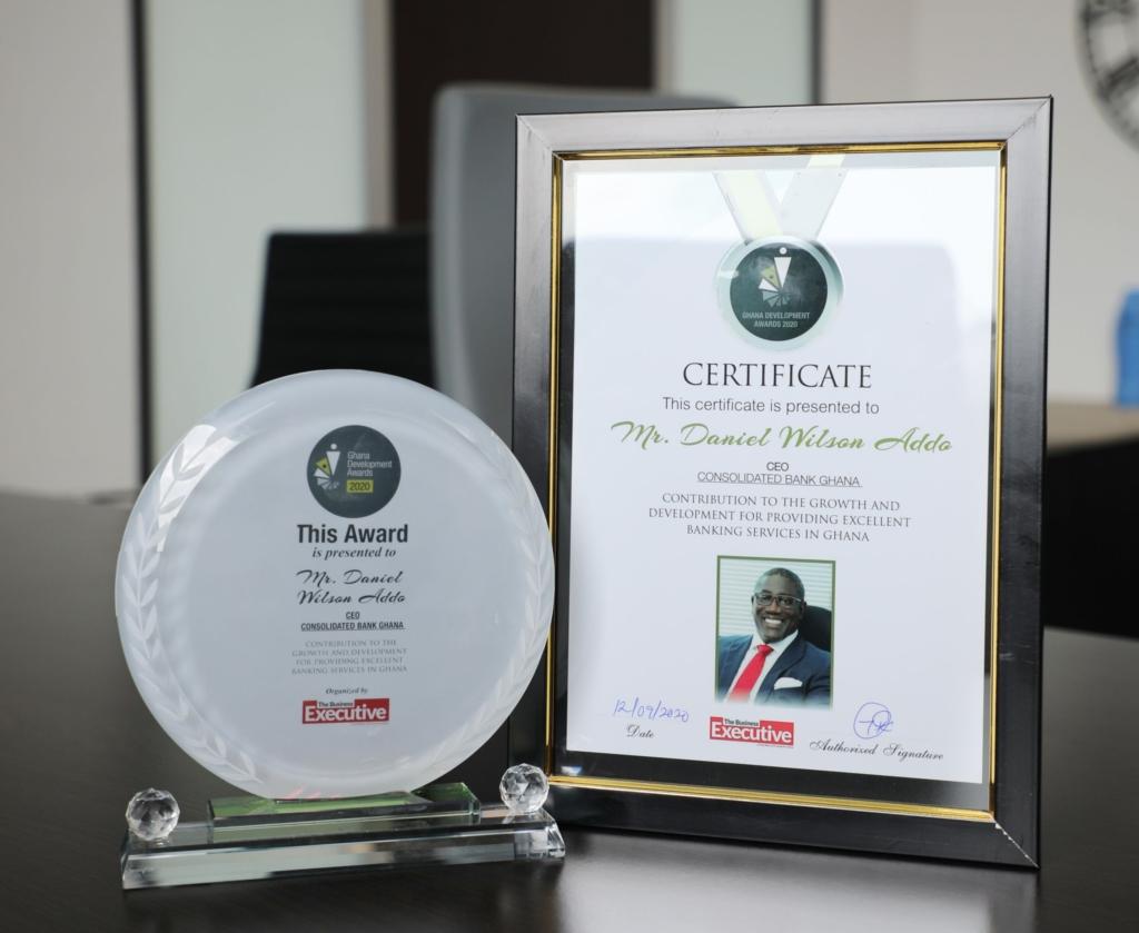 CBG boss, Daniel Wilson Addo honoured at Ghana Development Awards