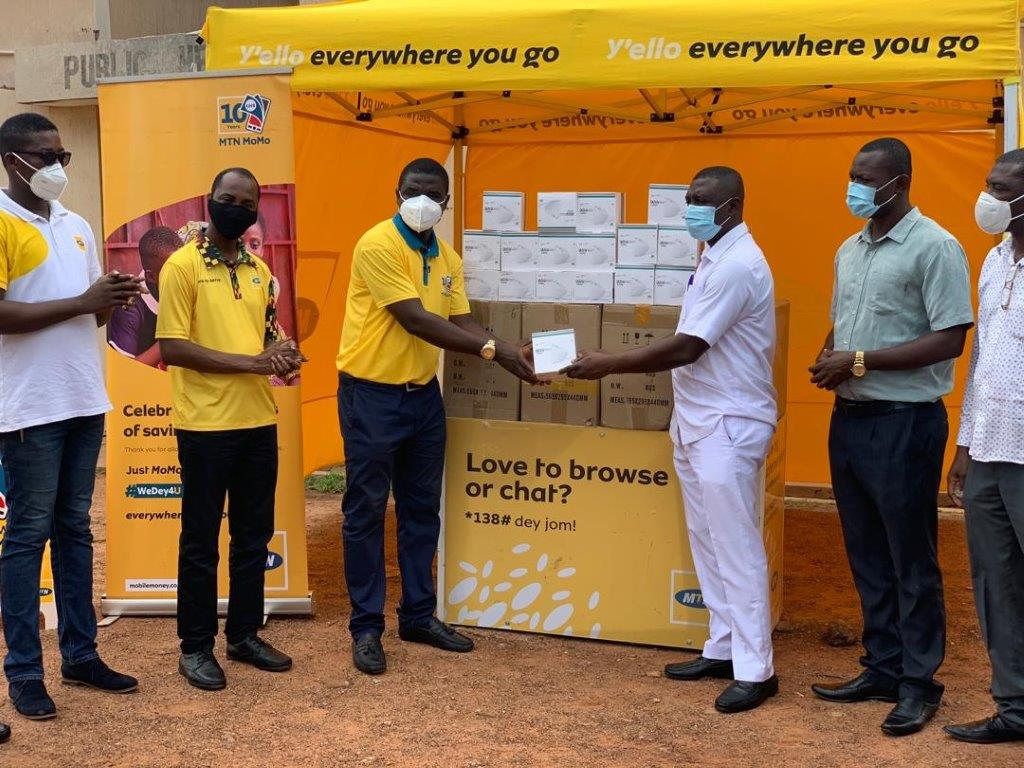 MTN Ghana Foundation boosts 'Wear It For Me' campaign with 88,000 face masks to health workers