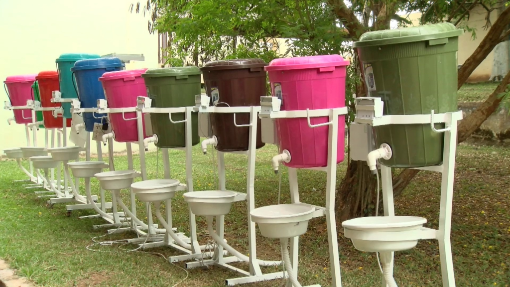 Technology College students develop automatic energy-efficient system, solar cum electric-powered hand-washing machines