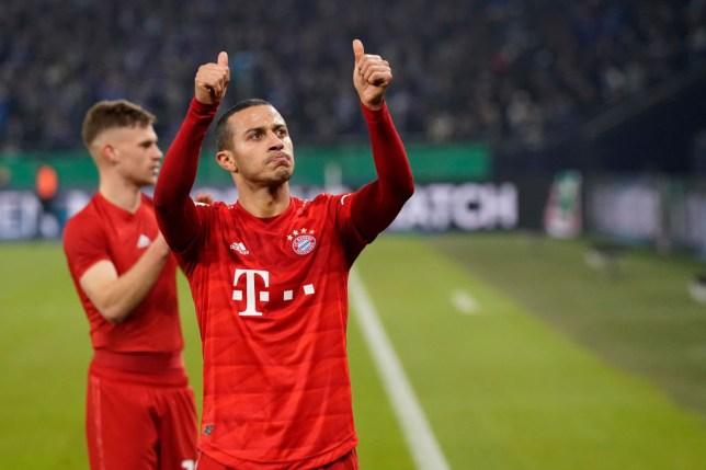 Thiago bids farewell to Bayern Munich