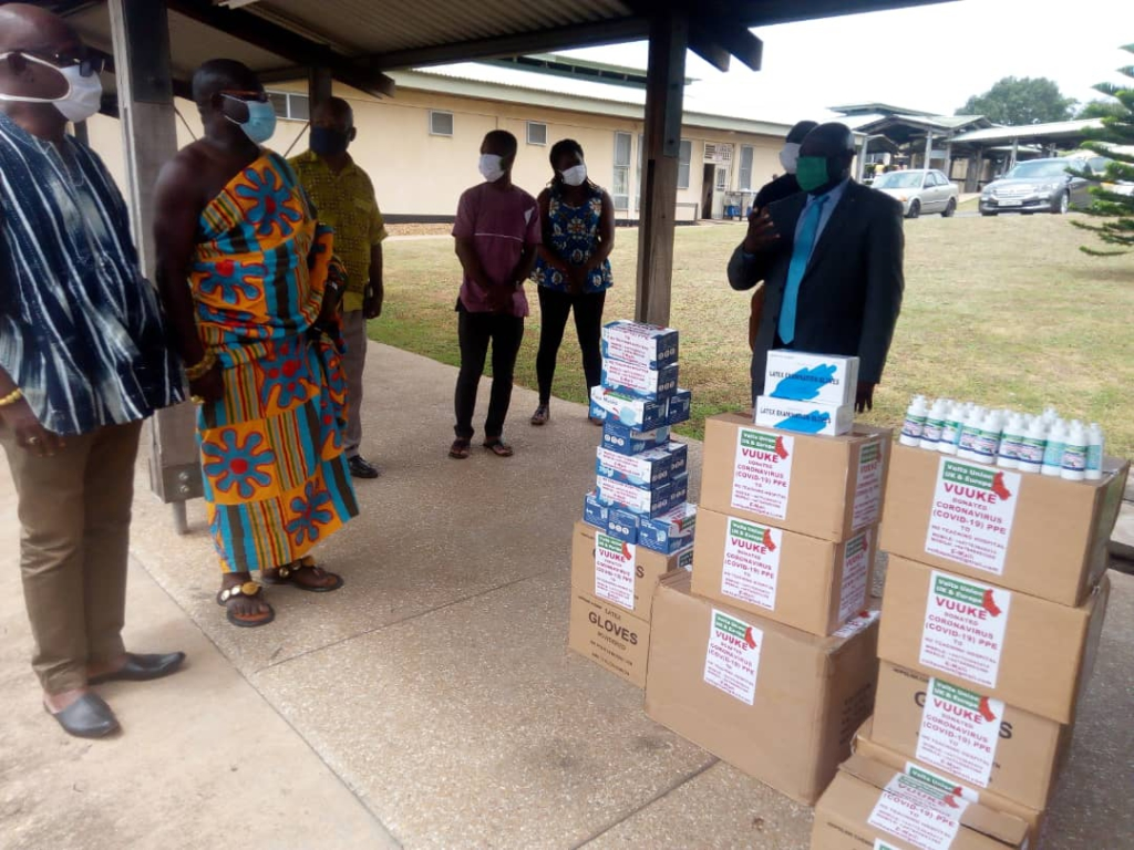 Volta Union UK/Europe donates protective items to Ho Teaching hospital to aid Covid-19 fight
