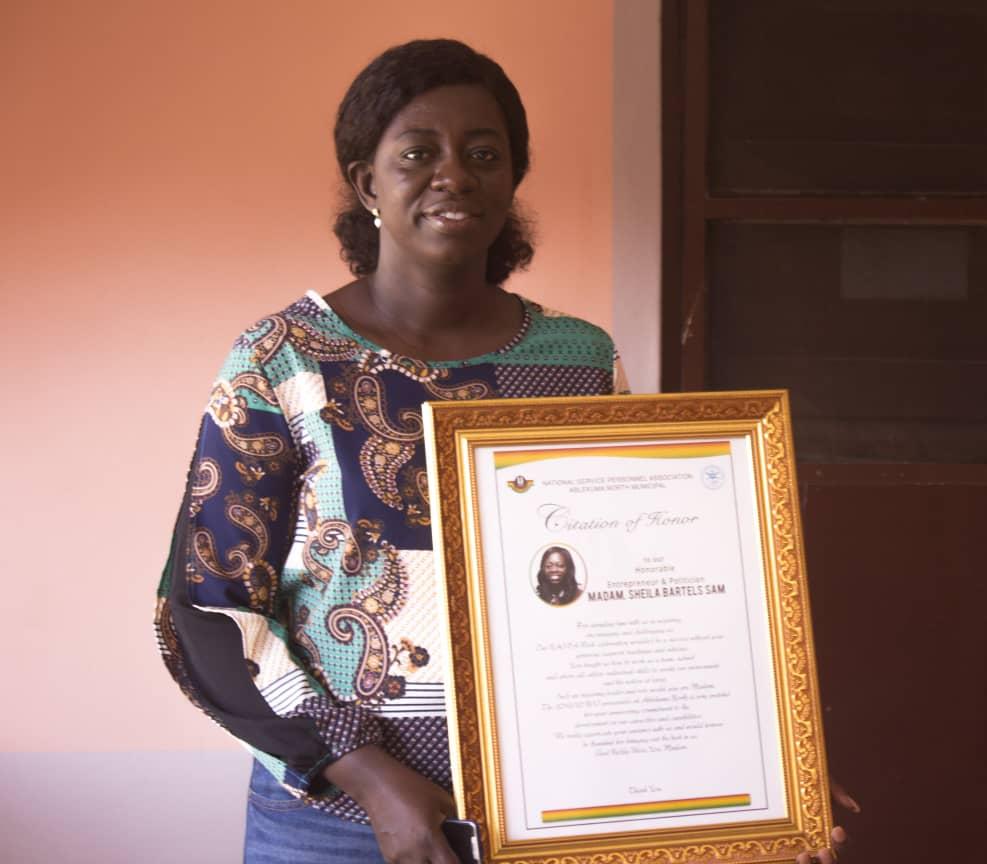 National Service Personnel Association honour Sheila Bartels