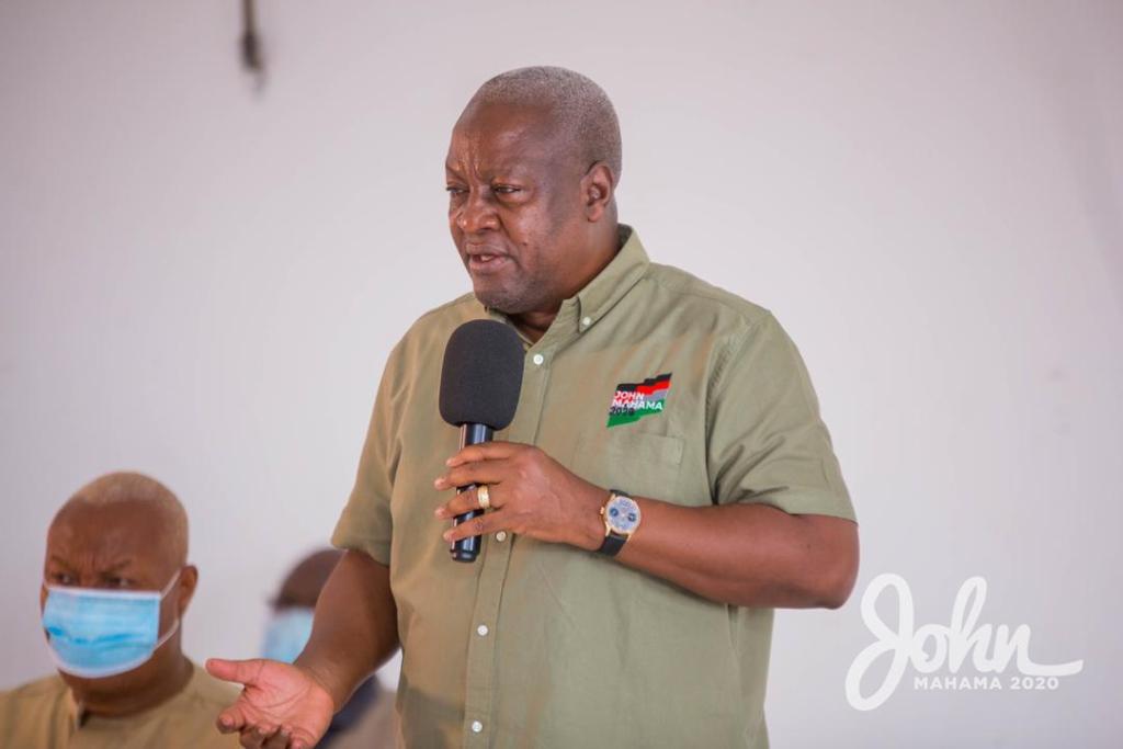 John Mahama in Bono East Region
