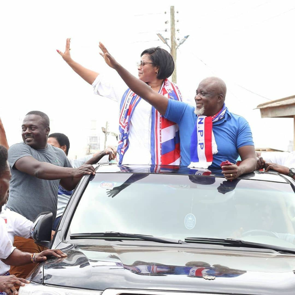 Gifty osei joins husband on campaign trail