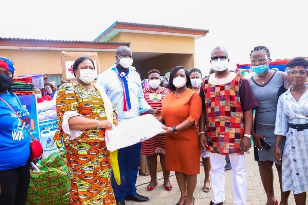 First Lady Rebecca Akufo-Addo campaigning