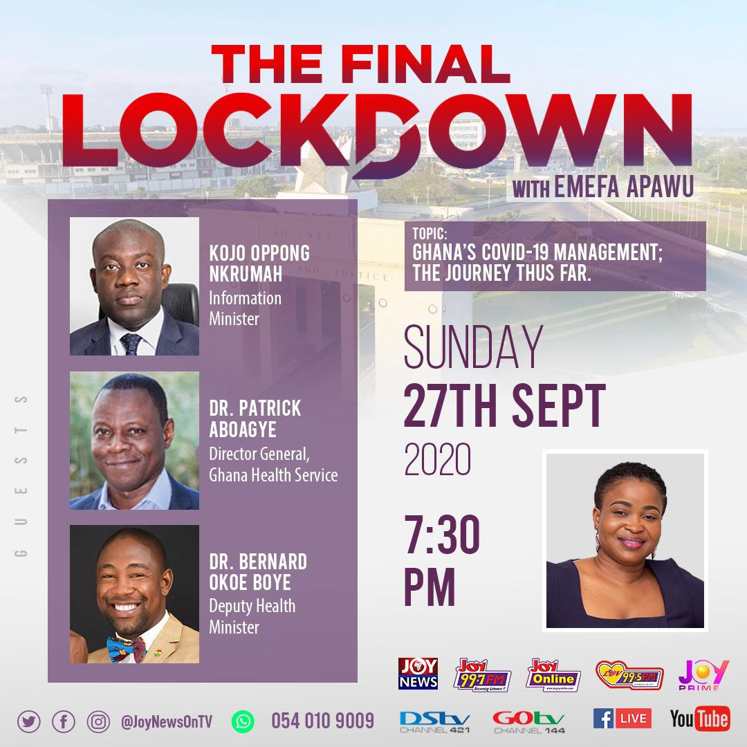 Livestreaming: 'The Final Lockdown' to dissect Ghana's Covid-19 management; the journey thus far