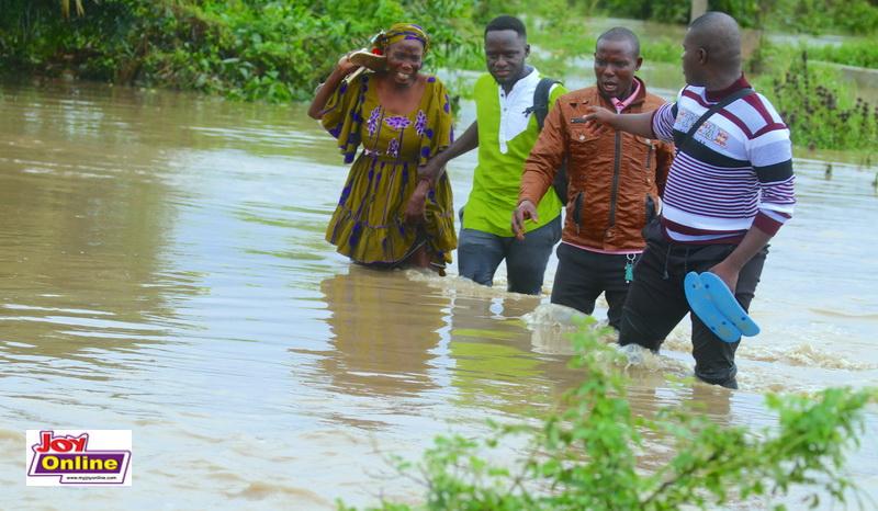 Hours of downpour cut off 3 communities in Ga South - MyJoyOnline.com