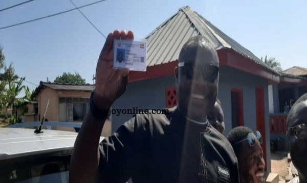 NDC Parliamentary candidate for Cape Coast North finally receives his voters' ID Card