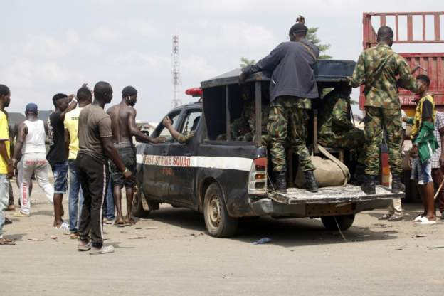 Nigeria's military denies shooting at protesters