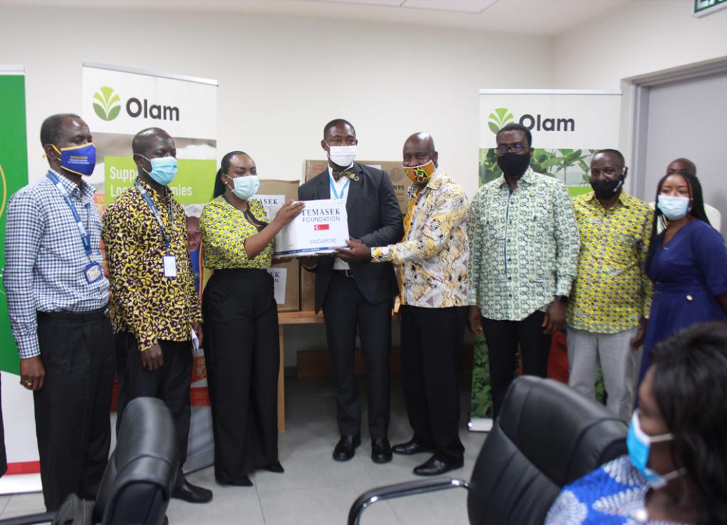Olam Ghana, Temasek donate Covid-19 PPEs to Noguchi Memorial Institute