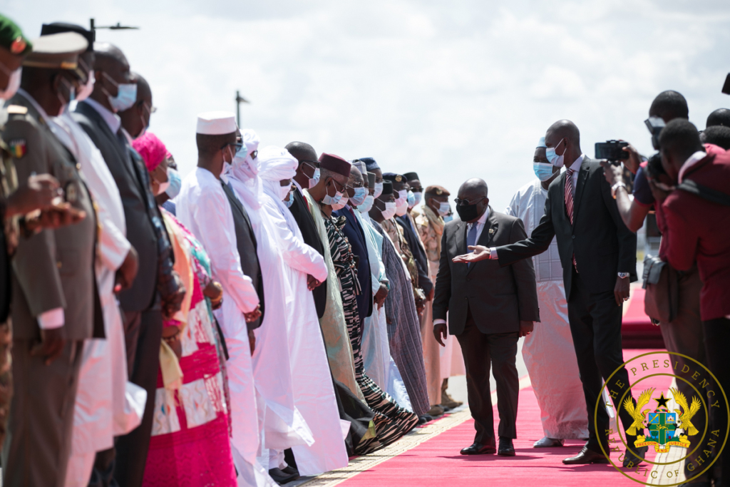 Mali's transitional president thanks Akufo-Addo for his role in resolving political impasse