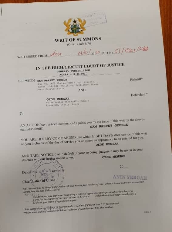 NDC suspends Ningo Prampram constituency secretary for making allegations against Sam George
