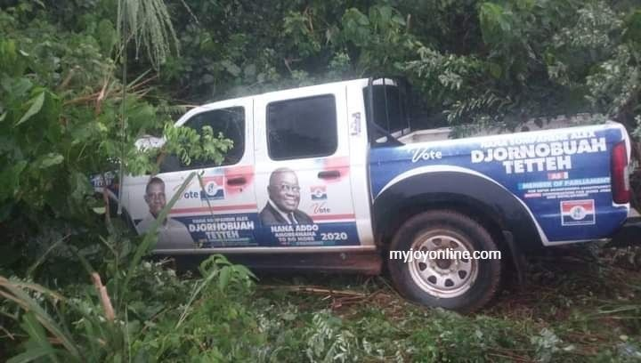 NPP campaign vehicle crashes tricycle rider to death on Wiawso-Nsawora road 2