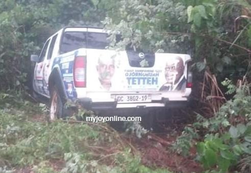 NPP campaign vehicle crashes tricycle rider to death on Wiawso-Nsawora road 3