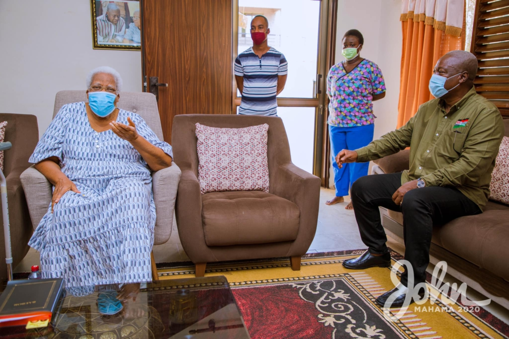 Mahama visits late Amissah-Arthur's mother during tour of Central Region 10
