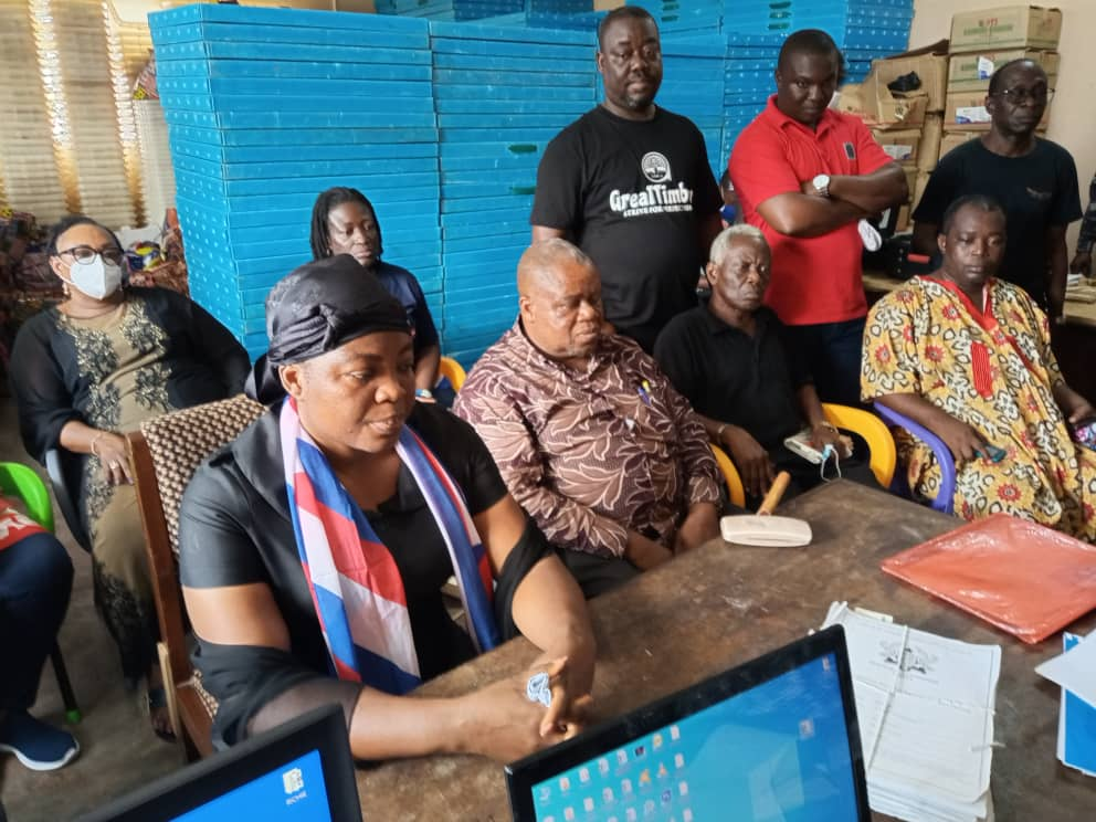widow file form 1 - Wife Of Late Mfantseman MP, Madam Ophelia Hayford Files Her Nomination To Contest(Photos)