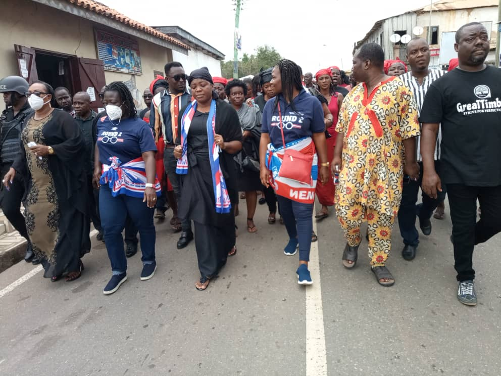 widow file form 4 - Wife Of Late Mfantseman MP, Madam Ophelia Hayford Files Her Nomination To Contest(Photos)