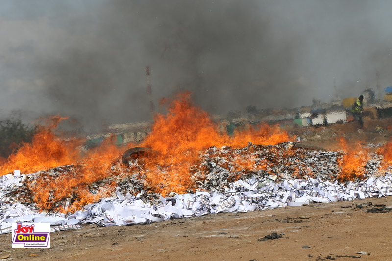 Photos: NDC witnesses burning of excess ballot papers 5