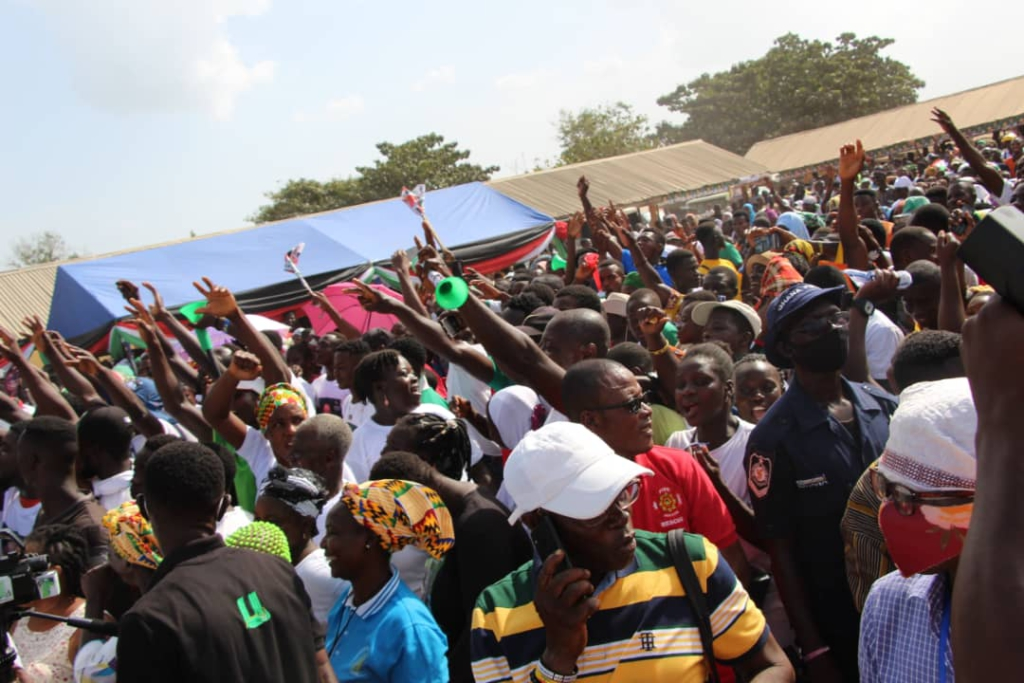I won't be surprised if he comes to Afram Plains to cut sod for your road after I leave here - Mahama mocks Akufo-Addo